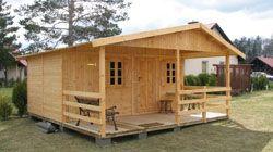 Садовые домики. Дачные дома из дерева